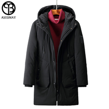 Asesmay Brand Clothing Men Winter Jacket Hooded Long Men's Down Jackets Parka Goose Feather Jacket Thick Mans Duck Coats Snow(China)