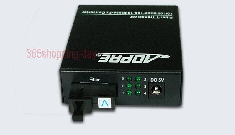 Fiber Optical Media Converter with 4 RJ45 10/100 Mbps 1 SC fiber port for HD Camera 1 Pair (A+B)