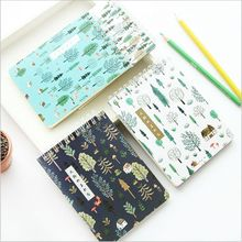 Green Forest Plants Flowers Weekly Planner Daily Schedule Book Notebook Mini Diary Book Scratch Notepad Memos Escolar Papelaria