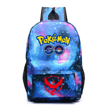 Freeshipping Hot Game Pokemon Go Backpack Pokemon Gengar Backpacks School Bags Shoulders Bag For Teenager Girls Mochila Feminina(China)