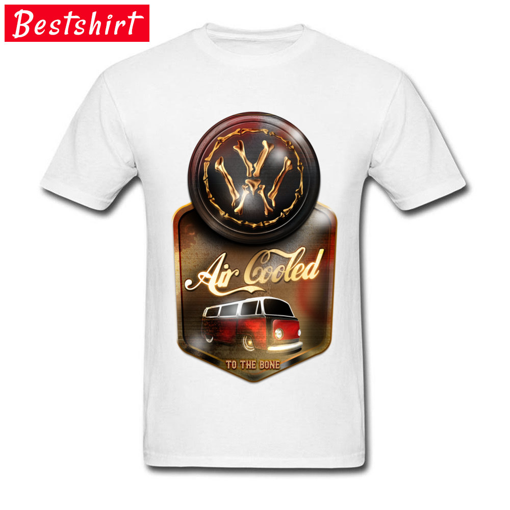 Air Cooled to the Bone Europe NEW YEAR DAY Pure Cotton O Neck Youth Tops & Tees T Shirts 2018 Newest Short Sleeve T-shirts Air Cooled to the Bone white