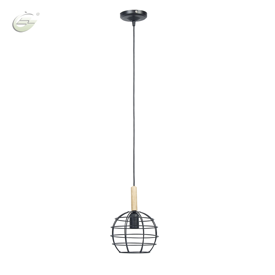 Modern Pendant Light Industrial Metal Cage with Led Bulb Iron Lightings Decoration Lighting Fixtures Free Shipping<br><br>Aliexpress