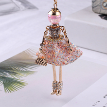 New Women Doll Long Chain Necklace Shining Dress pendant handmade girl maxi necklaces & pendants brand hot fashion jewelry(China)