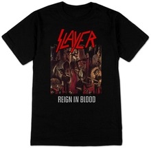 2017 Promotion Rushed Fashion Broadcloth Cotton Tee4u T Shirt Sale Design Men Slayer Reign In Blood O-neck Short-sleeve Shirts