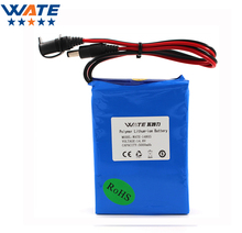 WATE 14.8V 5000mAh Li-ion battery pack DC 5A current discharge 14.8V li-ion polymer battery With 16.8V1A Charger(China)