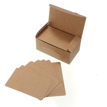 100 pcs/lot Kraft Paper Card Wedding Party Gift Message Memo Thank You Cards Label Bookmarks Papel Kraft Blanco Brown White