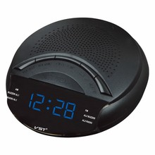 LED Display Radio With Alarm Clock LED Ditigal Backlight Mini FM/AM Dual Band Radio Auto Search Clock Snooze Sleep Table Clock