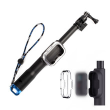 Go pro Remote Pole Handheld Monopod With WIFI Remote Housing Mount+Tripod Mount Adapter For Gopro Hero 3 3+ 4 5 Session Hero+LCD