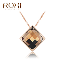 2017 ROXI Charms Hazy Shadow Long Necklace TOP Quality Jewelry Crystal Chains Women Pandent Choker Necklace Fashion Jewelry(China)