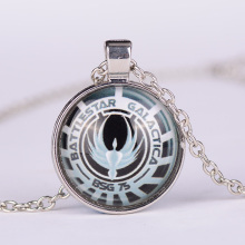 1pc Battlestar Galactica Pendant Glass Dome Necklaces Vintage Fashion Movie Jewelry 2015 G21