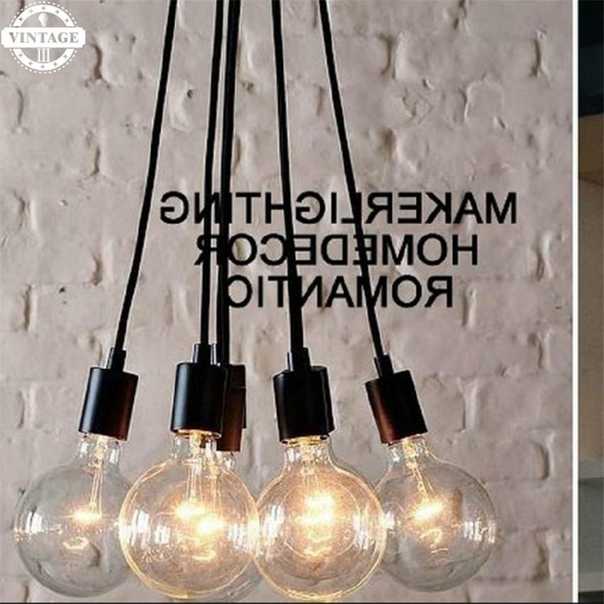 LED Edison Bulb E27 Celling Light  Pendant Light New Art Retro DIY Antique lamps living multi-colored Lighting High Quality<br>