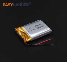 102535 3.7V 1000mAh Rechargeable  li Polymer  Battery For GPS PSP MP3 SPeaker  DIY PAD Power Bank Tablet  LED Bluetooth Pen