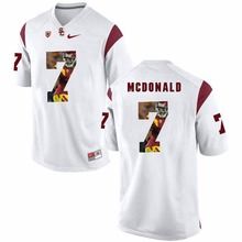 NIKE USC T.J. McDonald 7 College Printed Jersey Ice Hockey Jerseys- White Size S,M,L,XL,XXL,3XL(China)