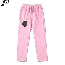 LUCKYFRIDAY Pocket Hamster Loose Sweatpants Men/Women Streetwear Pants Cotton Kawaii Anime Trousers Jogger Waist Skinny Pants(China)