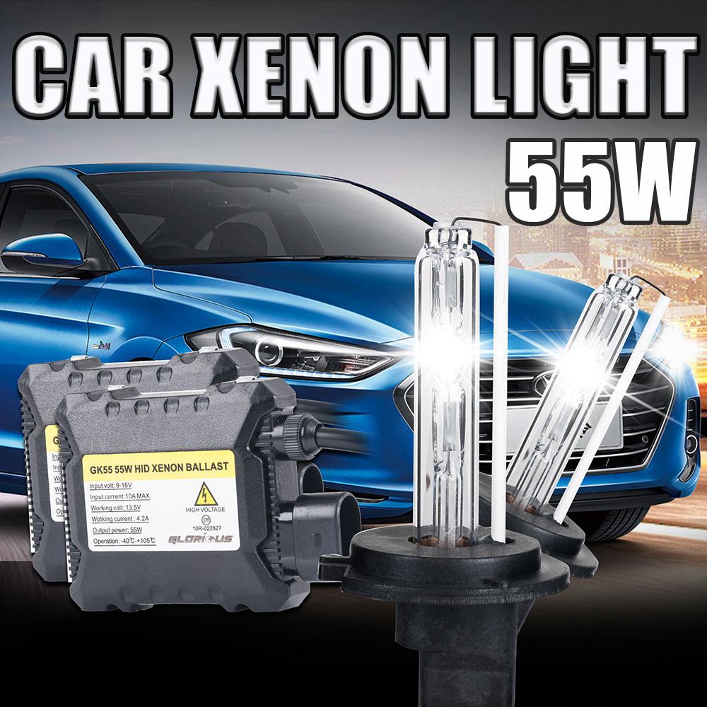 h3 bulb Xenon HID Kit Car Headlight Slim Ballast 55W DC H3 Auto lamp Xenon Bulb 3000K 4300K 5000K 6000K 8000K 10000K 12000K 12V<br><br>Aliexpress