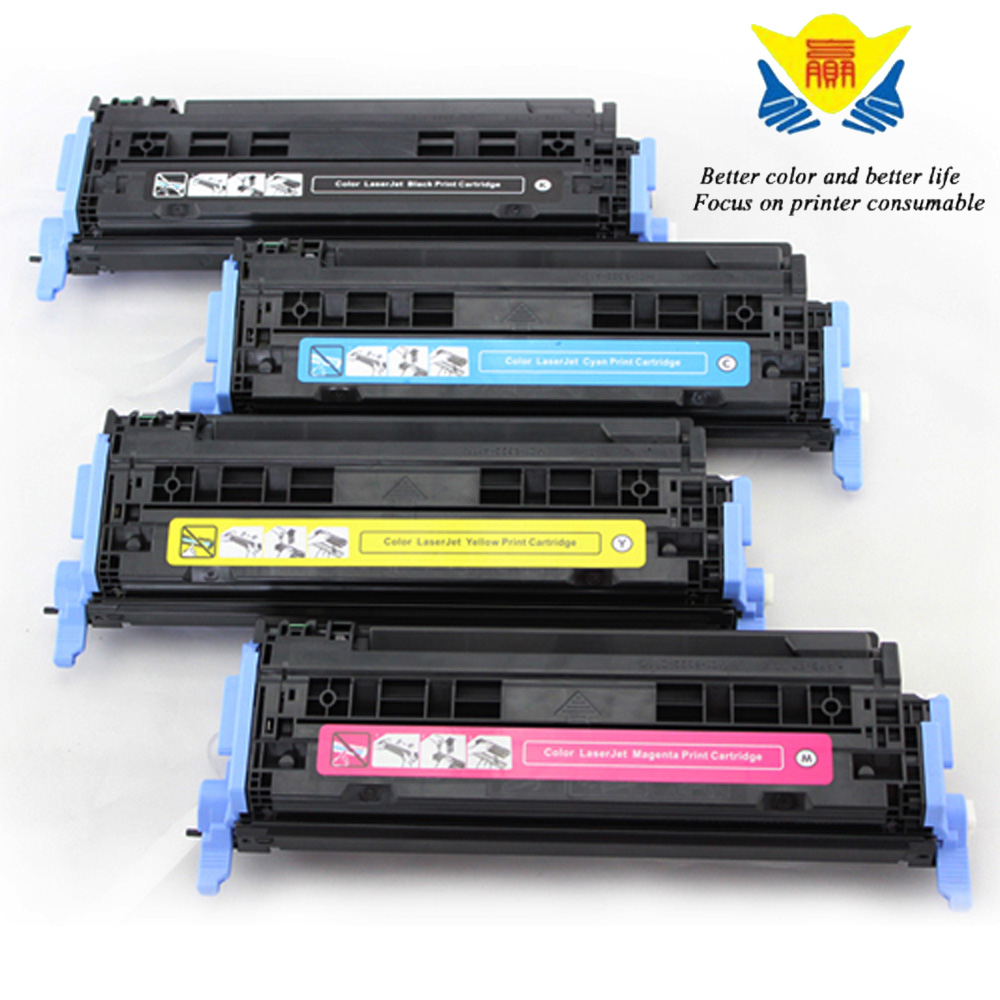 JIANYINGCHEN Compatible Color toner cartridge Q6000A Q6001A Q6002A Q6003A replacement for HPColor Laserjet 1600 2600 2605(4pcs)
