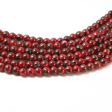 Latest Designed Approx 140pcs/lot 6mm Red Glass Beads for Jewelry Macking & DIY Beads BBD129-01RD