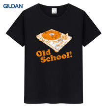 Navy t shirt mens turntable old school 2017 mens navy blue tee shirt gildan mens navy t-shirt hip-tope(China)