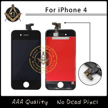 100% Good Working LCD Touch Screen Glass Digitizer Display Assembly For iPhone 4 4G 4S Free Shipping DHL