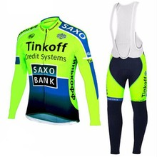2017 wool heat preservation TINKOFF EQUIPO men's bicycle jerseys. Maillot Manga / Larga during the rainy season of Arctic de la