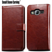 J1 Mini Prime Flip wallet Leather Case for samsung galaxy j1 mini prime case cover with phone stand function and card slots(China)