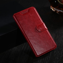 Luxury Original Wallet PU Leather Flip Cover Case For Lenovo S820 Mobile Phone Case Back Cover With Card Holder Stand & Gift Red