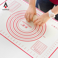 Kitchen Tools Mats Gadget Accessories Silicone Rolling Cutting Fondant Cake Dough Mat Pastry Baking Sheet Foldable Pad Liners(China)