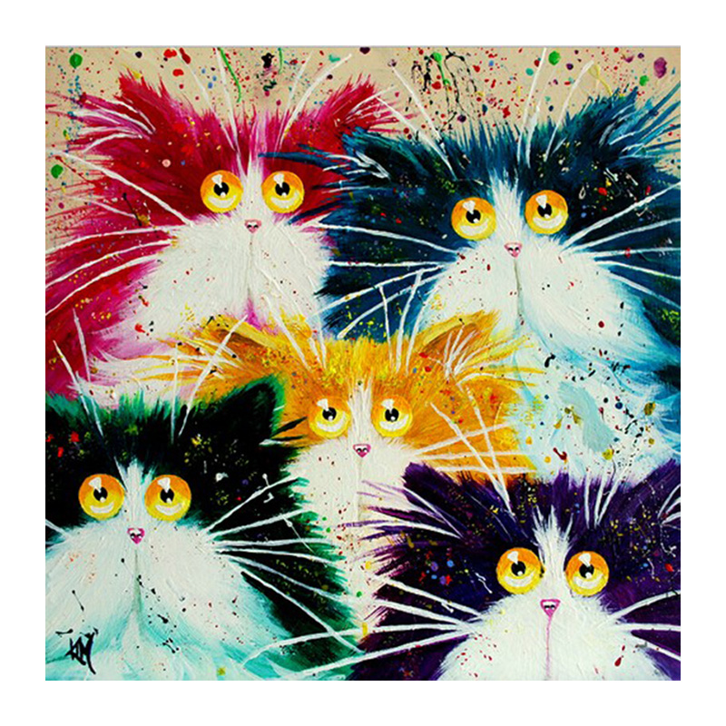 5D Diy Diamond Painting rhinestones Christmas decorations for Home decor Diamond embroidery Cats cartoon Diamond mosaic Cross stitch