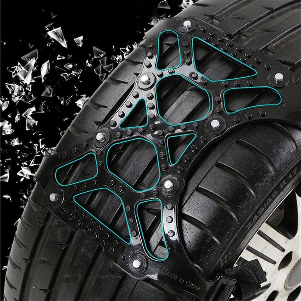 Mayitr 3Pcs Universal 65-265mm Car Tire Tyre Anti-skid Snow Wheel Chain Winter Roadway Safety Tire Accessories