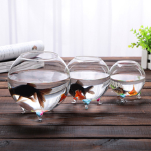 2015 Hot ! Clear Glass Bowl fish Tank Succulent Vase Terrarium Hydroponic Vase Wedding Table Landscape Home Wedding Supplier(China)