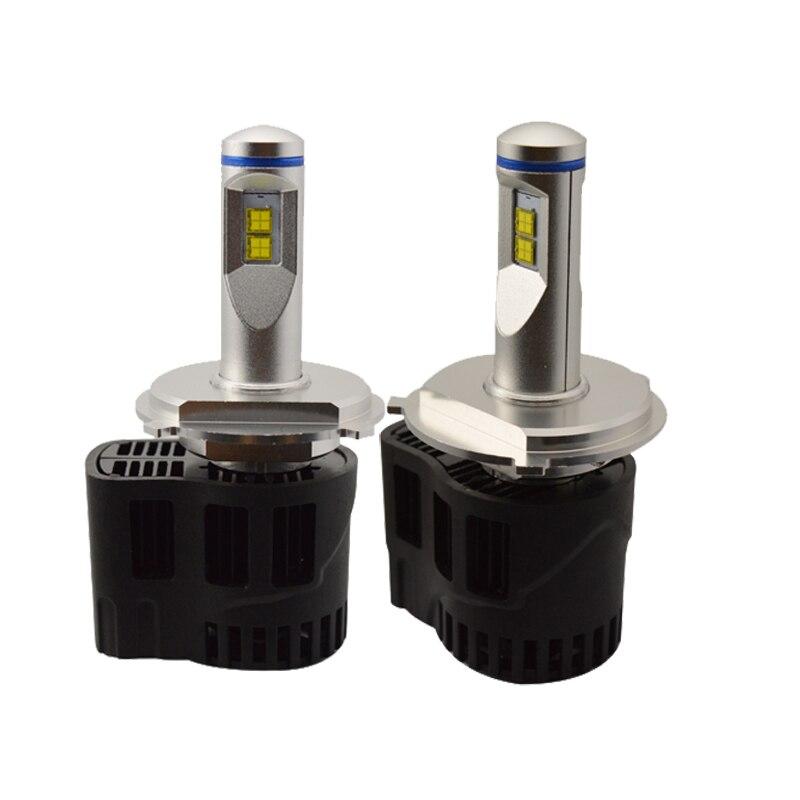 Super Bright! 2PCS Auto Car H4 Replacement LED Headlight Kit Bulb Hi Lo Beam 55W 5200lm 6000K 12V 24V Xenon White<br><br>Aliexpress