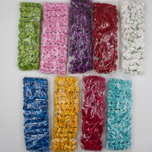 144Pcs/Bag Mini Paper Rose Artificial Flower Bouquet For Wedding Craft Decoration DIY Wreath Box Accessories Garland Supplies