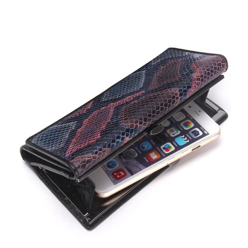 Long Women Wallet Genuine Leather Wallet Women Clutch Card Holder High Genuine Leather Hasp Wallets Luxury Photo  Phone Holder<br>