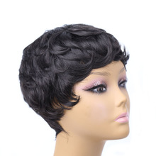 Amir Short Hair Wigs For Women Black and Short Curly Synthetic Wigs Perruque Synthetic Women wigs Free wig net(China)