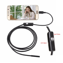 3.5m Soft Hard USB Android Endoscope Camera Waterproof Micro USB OTG Inspection Borescope Car Endoscope with 5.5mm 7mm 8mm Lens(China)