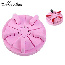 Dicate Pink Sponge Nail Art Salon Tools Tips Display Practice Stand Holder False Nail Show Work Table Equipment