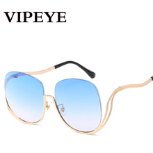 No Frame Fashion Ocean Lens Retro Ladies Sunglasses , Cadre Noir Gris