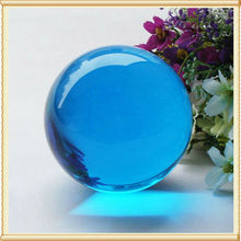 Hot sell,60*60mm Roundle Aqua Crystal Fengshui Ball For Christmas Table Decoration K9 Crystal Paperweight, Wedding Decoration