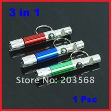 M126 20 pcs/lot New Climbing Travel Portable Compass Whistle Light Keychain Keyring(China)