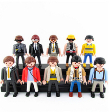 2017 New Playmobil Geobra original model soldiers prince pirates workers doctor police various occupations kids birthday present(China)
