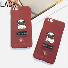 LACK Cute Cartoon Pug Dogs Phone Cases For Iphone 6 Fundas For iPhone 6S 6Plus Ultra thin frosted Fashion Back Cover HOT Fundas(China)