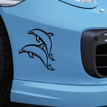 Beautiful Cute Leaping Dolphins Car Sticker for Window Bumper Auto Door Laptop Kayak Canoe Art Wall Die Cut Vinyl Decal 10 Color