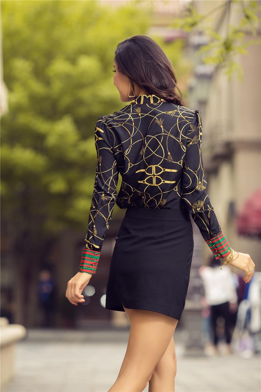 2018 Spring Women Fashion Blouse Bow Ribbon Striped Shirt Black Beige Casual Office Shirts Print Female Big Size Tops Zevrez 9