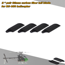 2 * Pairs Carbon Fiber 62mm Tail Blades for Align Trex 450 RC Helicopter