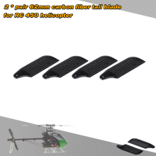 2 * Pairs Carbon Fiber 62mm Tail Blades for Align Trex 450 RC Helicopter(China)