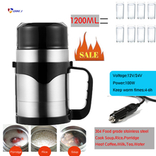 Portable Cooking Pot Travel cooking tool Coffee Holder Soup Cooking Pot Water boiling Electric Thermos