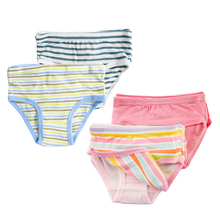 6 Piece/Lot Boys Girls Briefs 100% Organic Cotton 2-8Y Baby Underwear Kids High Quality Shorts Panties For Children's Clothing(China)