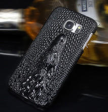 Vintage Luxury Retro Phone Case For Samsung Galaxy S7 S6 S7 Edge S6 Edge A3 A310 A5 A510 Top Crocodile Leather Slim Back Cover(China)