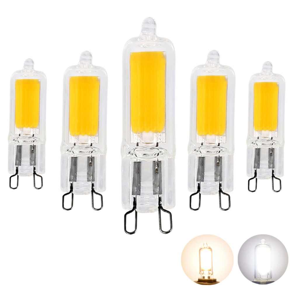 Detail Feedback Questions About 4pcs Super Bright G9 Led Lamp Ac Ultra For Ac230v Light Bulbs 3w 5w Cob Glass Lamps 25w 45w Halogen Bulb Equivalent