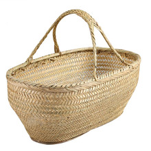Bamboo Baskets For Kitchen Picnic Fruit Food Flower Vegetable Basket Shopping Container Laundry Storage Of Things Rattan Weaving(China)
